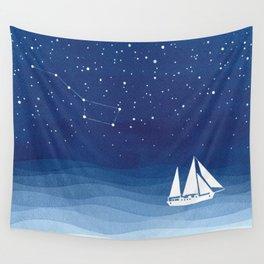 big dipper, sailboat Wall Tapestry