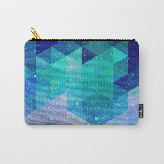 Geometric and electric Carry-All Pouch
