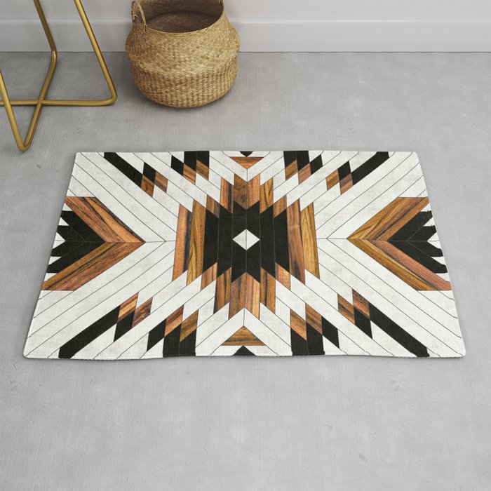 Urban Tribal Pattern No 5 Aztec Concrete And Wood Rug