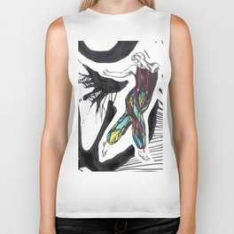 Stained glass dancer Biker Tank