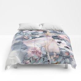 Ballerina and flowers n.4 Comforters