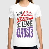 baseball T-shirts featuring Baseball, Ghosts by Chris Piascik