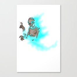 Soul Decaying Ghoul Canvas Print