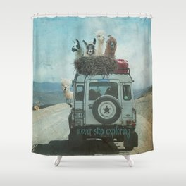 ALPACA WANDERLUST II SUMMER EDITION Shower Curtain