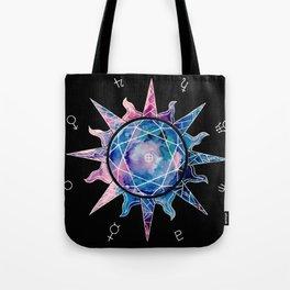 Crystal Sun | Planet Symbol | Watercolor Tote Bag