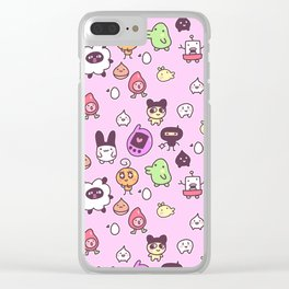 Tamagotchi Pattern Clear iPhone Case