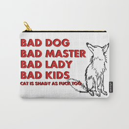 Some truth about family :) Vector animal and bold font, funny quote, meme Carry-All Pouch