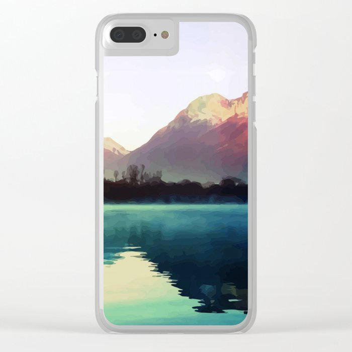 Mountains #watercolor Clear iPhone Case