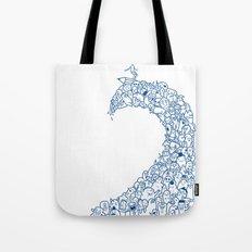 Doodle Wave Tote Bag