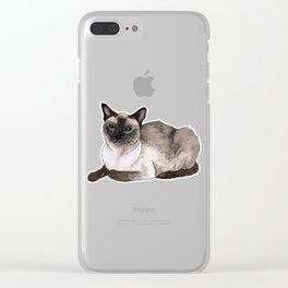 Siamese cat Clear iPhone Case