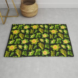 Red-eared slider (dark) Rug