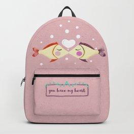 VALENTINE'S FISH IN LOVE Backpack
