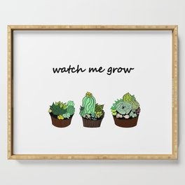 little green cactuses ( https://society6.com/totalflora/collection ) Serving Tray