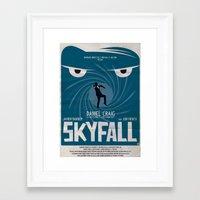skyfall Framed Art Prints featuring SKYFALL by Alain Bossuyt