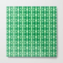 Saloon Wallpaper Mint Green Sap Green Country Wallpaper Molding Southwestern Design Pattern Metal Print