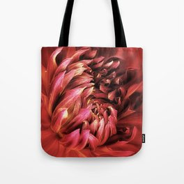 Red Dahlia Passion Tote Bag