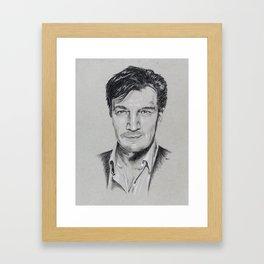 Nathan Fillion Framed Art Print