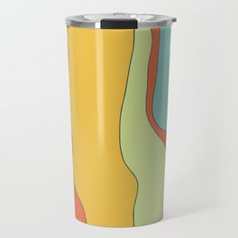 Curly lines of colour pattern Travel Mug