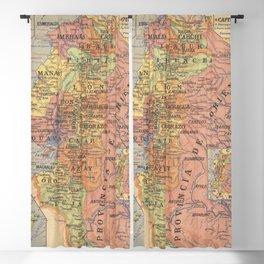 Vintage Map of Ecuador (1913) Blackout Curtain