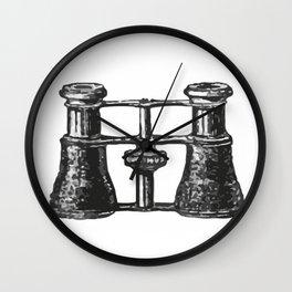 Binoculars 3 Wall Clock