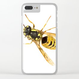 Wasp Art Clear iPhone Case
