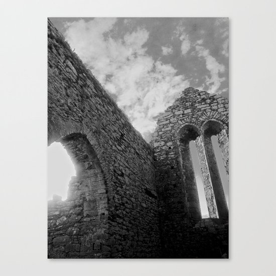Corcomeroe Abbey Arch Canvas Print