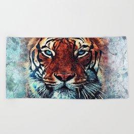 Tiger spirit Beach Towel