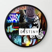 destiny Wall Clocks featuring Destiny by Aldo Couture