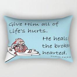 Healer of Hearts Rectangular Pillow