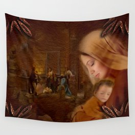 Christmas Blessings - Christmas art by Giada Rossi Wall Tapestry
