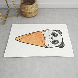 Panda with Waffle and Ice cream Rug