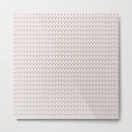 Oriental Geometric Pattern Metal Print