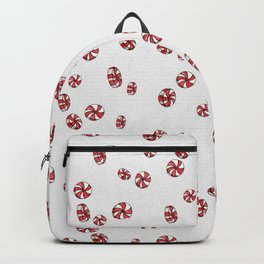 Peppermint Candy in White Backpack
