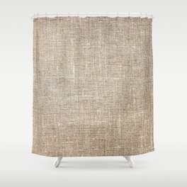 Len Sack Fabric Texture Shower Curtain