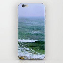 Rain on the ocean iPhone Skin