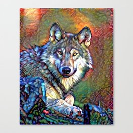 Aura of the Wolf Canvas Print