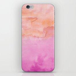 Watercolor Pink Orange Duo iPhone Skin
