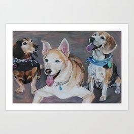 Wendy's Pups Art Print