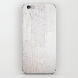 Vintage White Wood iPhone Skin