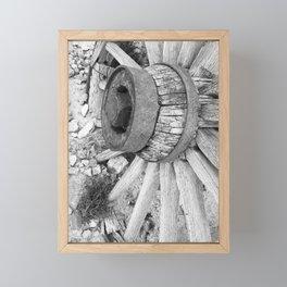 Wagon wheel ghost town rhyolite California Framed Mini Art Print