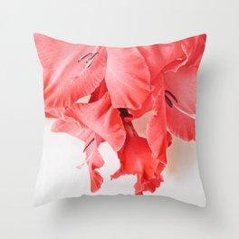 Coral Cascade Throw Pillow