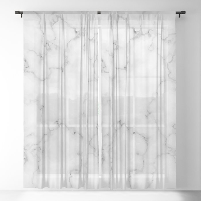White marble Sheer Curtain