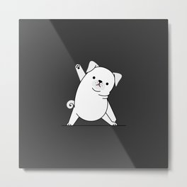 Yoga Dog VI Metal Print
