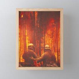 Firefighters Hero Framed Mini Art Print