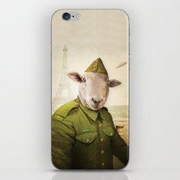Private Leonard Lamb visits Paris iPhone Skin