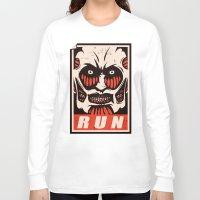 run Long Sleeve T-shirts featuring Run by le.duc