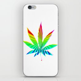 Cannabis Rainbow Design (118) iPhone Skin