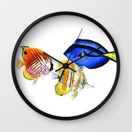 Coral Fish, tropical fish artwork Wall Clock