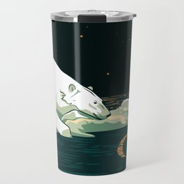 Polar Bear and the Moon Travel Mug
