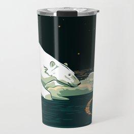 Polar Bear and the Moon Travel Mug